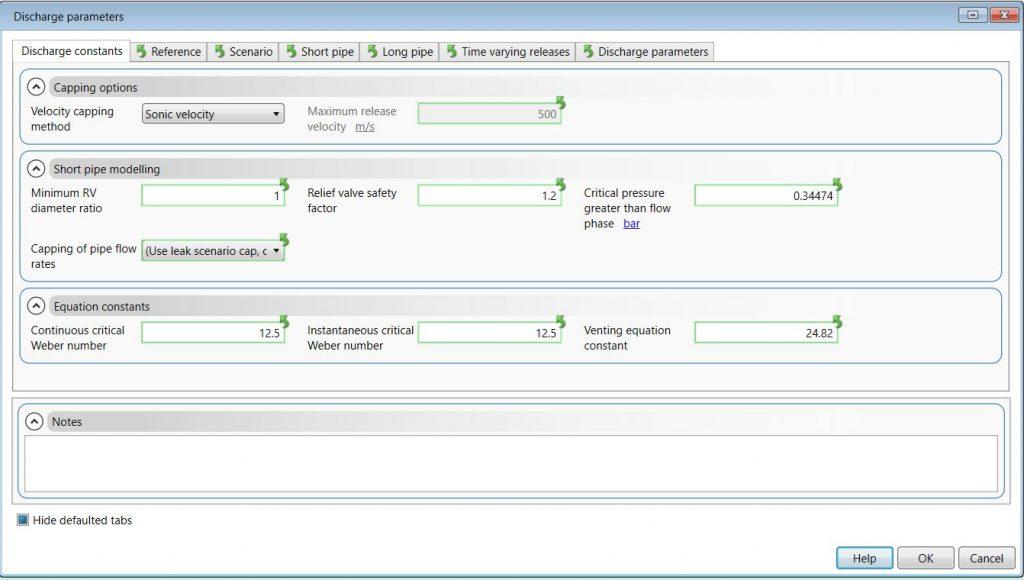 توضیح تب discharge parameters در PHAST