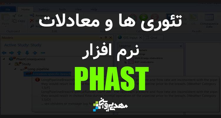 تئوری ها و معادلات نرم افزار phast