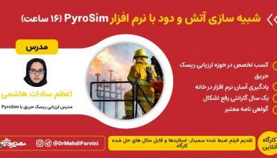 وبینار شبیه سازی آتش و دود با pyrosim